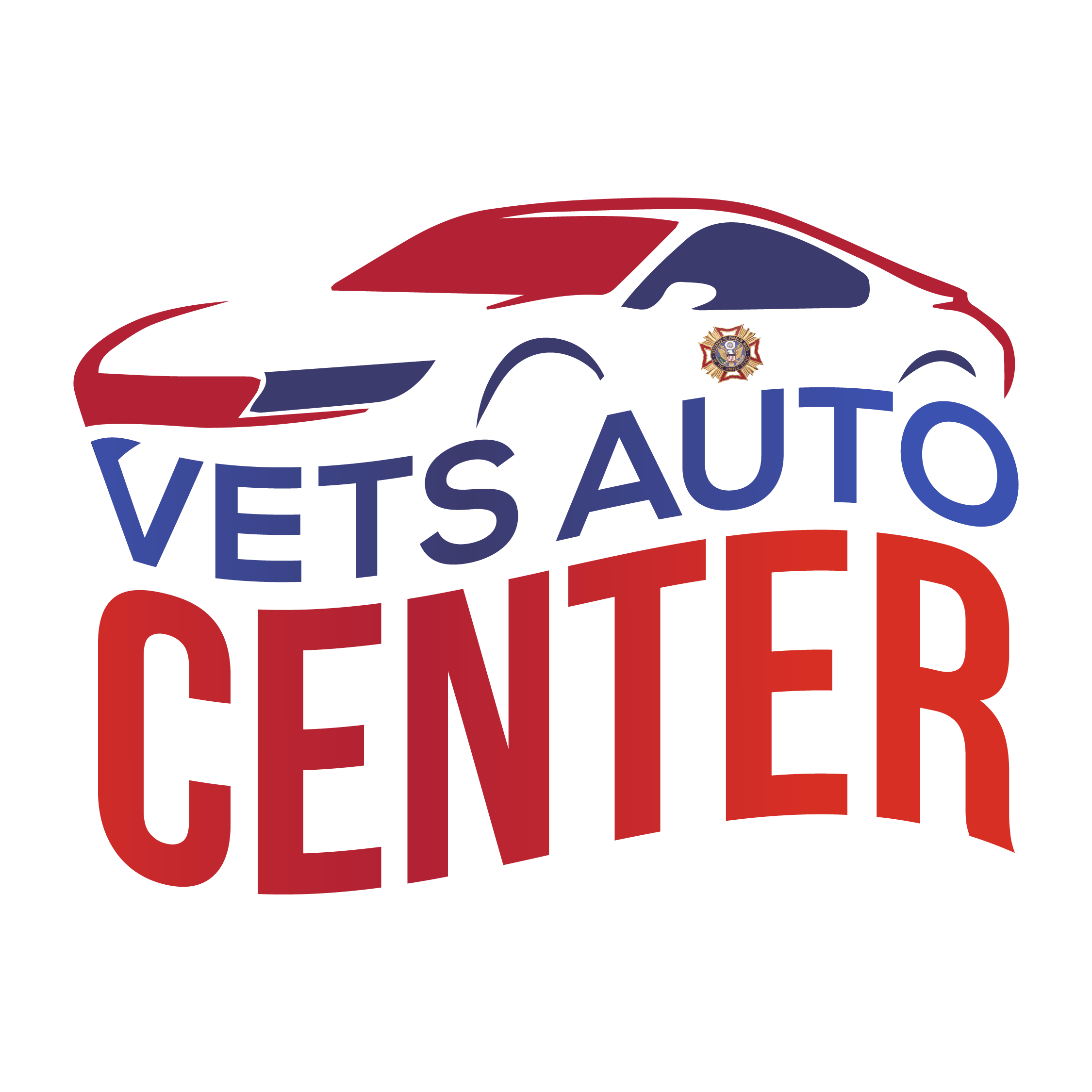 Vets Auto Center Logo Design in Austin